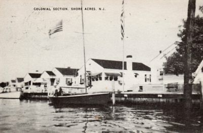 1940s Colonial Section Lagoon At Shore Acres Brick Twp New Jersey Bricktown NJ