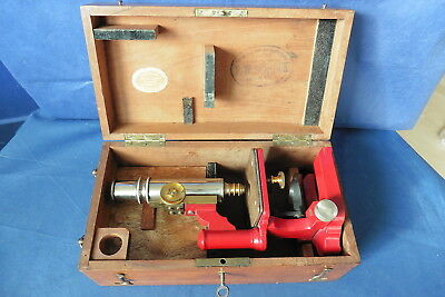 Altes Mikroskop Schieck - microscope brass antique - ancien