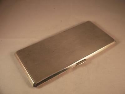 Superb Large Antique Sterling Silver Birm Hm 1942 Slim Cigarette Case 270 Grms!