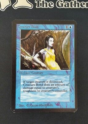 "Carte Magic Mtg "" Lien Animal / Creature Bond "" VO Ed. ALPHA"