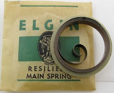 Elgin 22s Mainspring T end x1 piece brown alloy aircraft clock 508 493 490 553