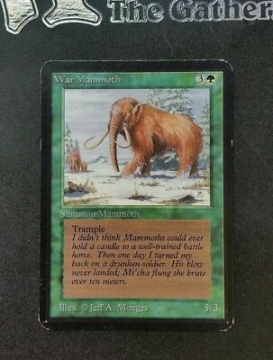 "Carte Magic Mtg "" Mammouth de Guerre / War Mammoth "" VO Ed. ALPHA"
