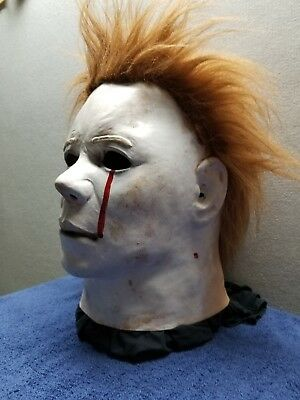 High Quality Michael Myers Mask Tears of Blood Halloween 2 Latex Cosplay Film