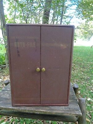 vintage Steel Metal THE BECKETT AUTO-FILE Printers CABINET Flatfile
