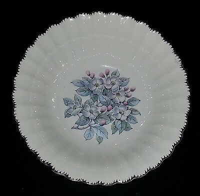"American Limoges - Grey Blossom - Round Vegetable Serving Bowl - 8 3/4"" Diameter"