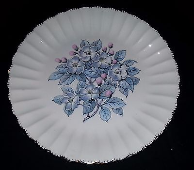 "American Limoges - Grey Blossom - Dinner Plate - 10"" Diameter"