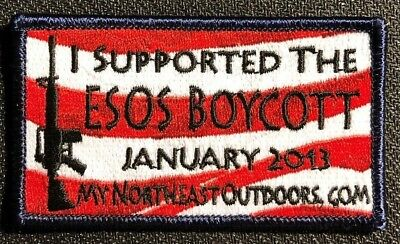 I supported The ESOS BOYCOTT 2013 Eastern Sports and Outdoor Show Patch NOS
