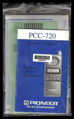 1994 PIONEER Compact Cellular, Cell Phone PCC-720 Manual, User Guide