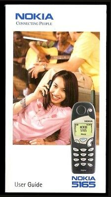 Vintage NOKIA 5165 Cell Phone Manual, User Guide