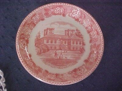 Stratford Hall 1738 Red & White Plate England