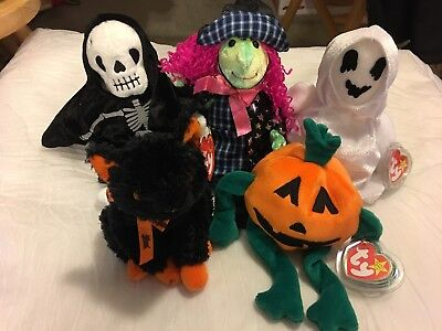 TY Beanie Babies Halloween lot of 5 with hang tags