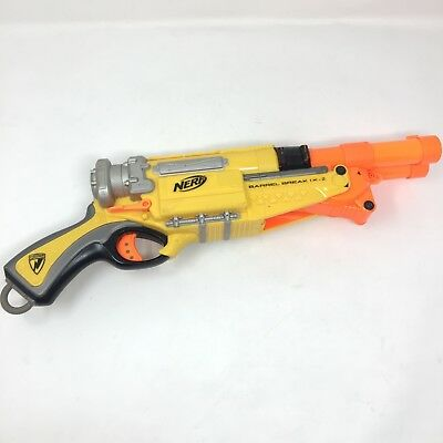 Nerf N-Strike Elite Orange Barrel Break 1X-2 Shotgun Pump Shot Gun Blaster 2009