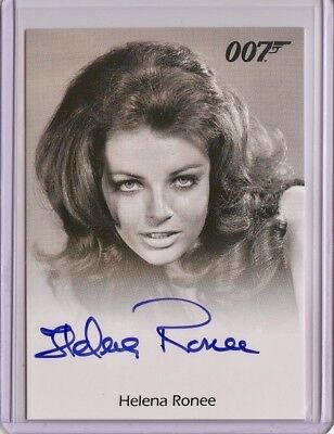 2017 James Bond Archives Final Edition HELENA RONEE Full Bleed Autograph
