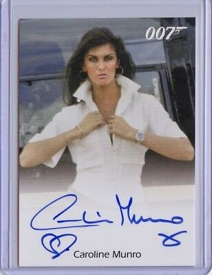 2016 James Bond Archives Spectre Edition CAROLINE MUNRO Full Bleed Autograph