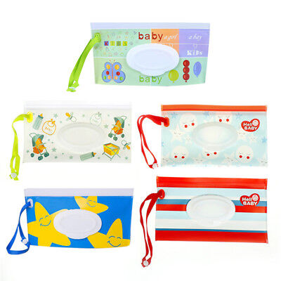 Clean Wipes Carrying Case Wet Wipes Bag Cosmetic Pouch Snap-strap Wipes mZ