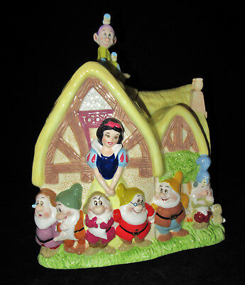 Snow White And The Seven Dwarfs Cottage Cookie Jar in Original Box Gorgeous!