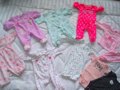 Amazing 10 Pc Baby Girl Preemie Clothes Lot Carters Peter Rabbit Little Me