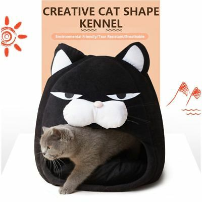 Dog Bed Cat Head Shaped Pets Soft Warm Cotton House Kennel Winter Puppy Sofa Mat