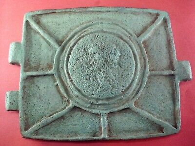 Superb Ancient Roman Military Bronze Belt Part - 100/200 Ad - Extremely Rare!