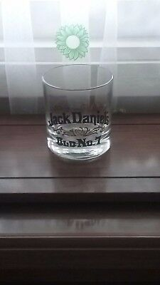 THERE'S  NOTHING LIKE OLD JD No. 7 -  GOLD  EMBOSSED THICK  BOTTOMED  GLASS NEW