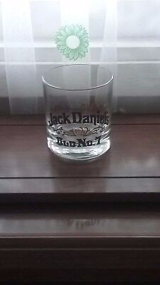 JACK DANIELS ...OLD No. 7 -  GOLD  EMBOSSED THICK  BOTTOMED  GLASS - NEW
