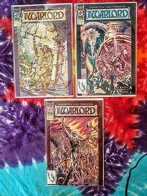 Lot of 3 The Warlord 1-3 '92 DC VF-NM
