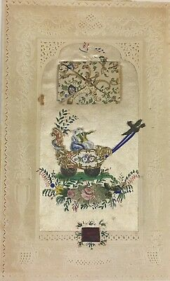 Ca. 1850s Early Antique Victorian Valentine with Envelope
