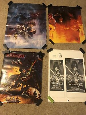 Lot Of Vintage Rare Lucas Films Star Wars Movie Graphic Posters 1980s
