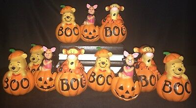 Disney Winnie the Pooh Piglet Tigger Halloween Light Cover Blow Mold Lot of 11!