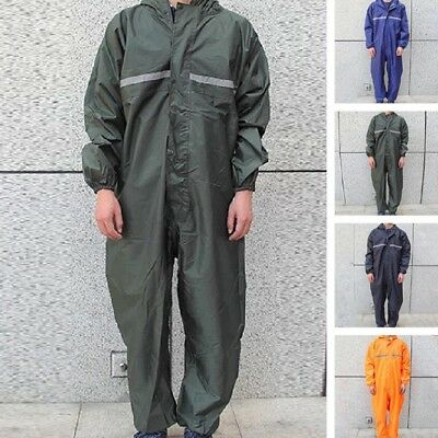 Waterproof Men Motorcycle Rain Suit Raincoat Overalls Work Outdoor Jacket Coat