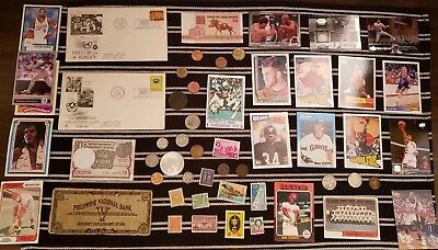Junk Drawer Lot: Old U.S. Coins PEACE SILVER DOLLAR currency STAMPS ++