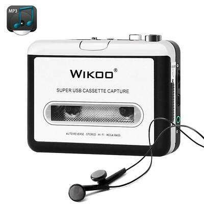 Wikoo Cassette Tape to MP3 CD Converter via USB, Portable USB Cassette Tape Play