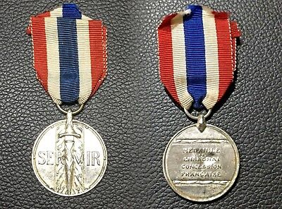 China Chinese 1937 Shanghai French Concession Police Silver Medal 上海法租界警察银章
