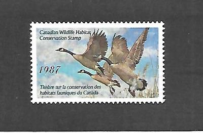 Canada Wildlife Habitat Conservation Stamp #fwh3 (Hinged) From 1987