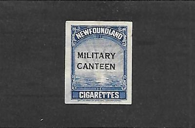 Newfoundland Military Canteen Stamp #tb50 (Used) From ??? Was Creases