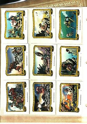 1984 Topps MASTERS OF THE UNIVERSE Sticker set COMPLETE 22 sticker cards nm