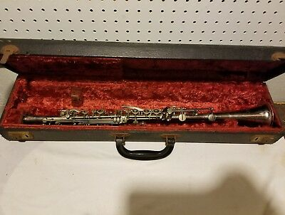 Vintage 40's-50's Gretsch Commander Metal Clarinet With Case Made In USA