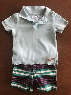 Country Road Boys 12-18 Months Shorts and Polo