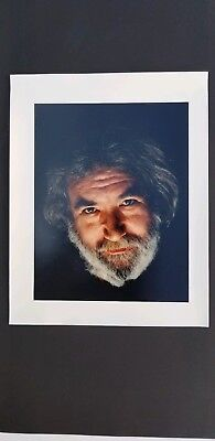 Herb Greene Signed Color Jerry Garcia Photograph, Grateful Dead, 1991. RARE!!
