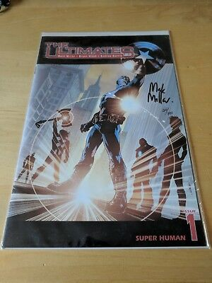 The Ultimates Super Human Issue 1 Signed Mark Millar 24 Of 999