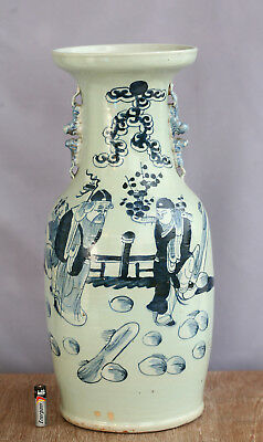 Magnificent Hand Painted Antique Chinese Qing Dynasty Porcelain Vase Circa 1890s