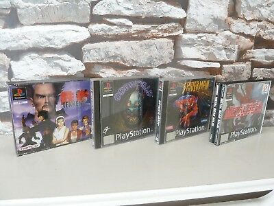 COLLECTION OF PS1 CASES and MANUALS : METAL GEAR SOLID / TEKKEN 2 / ODDWORLD...
