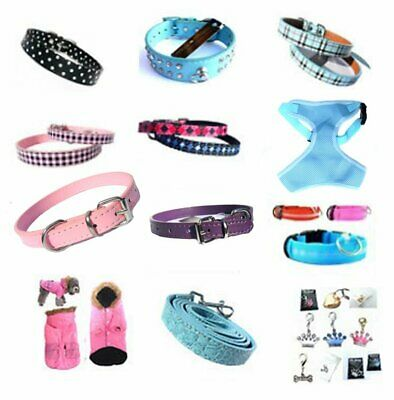 Job Lot 36x Pet Dog Collars Leads Parka Coats & Charms Wholesale Bulk Brand New