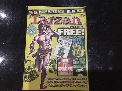 Tarzan Weekly No.1 First Issue With Free Gift Rare !