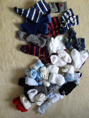 Baby Boys Ralph Lauren Tommy Hilfiger And Other Brands Sock Bundle 42 Pairs