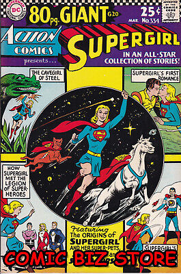 Action Comics #334 (1966) Silver Age Dc 1St Printing 80 Page Giant #20 Vfn-  7.5