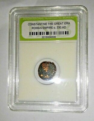Slabbed Ancient Imperial Roman Constantine the Great Era - Nice Coin c 330 AD
