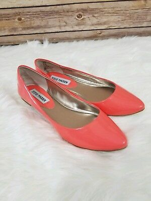 6fe5693ff STEVE MADDEN FLATS Ibiza Womens Slip On Shoes Pointed Toe Patent ...