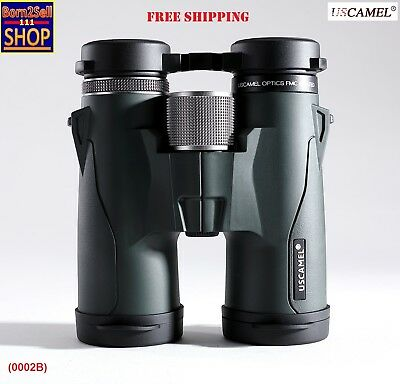 USCAMEL Zoom Rangefinder Military 10x42 HD High Power Binoculars BAK4 Telescope