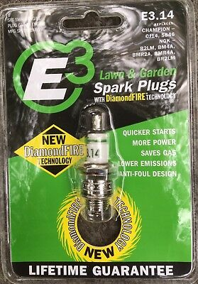 E3 Spark Plugs E3.14 Small Engine and Lawn & Garden Spark Plug , Pack of 1